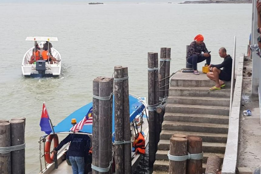 Authorities from Malaysia's maritime agency, police and local fishermen are involved in the search for Mr Tan Eng Soon and Ms Puah Geok Tin.