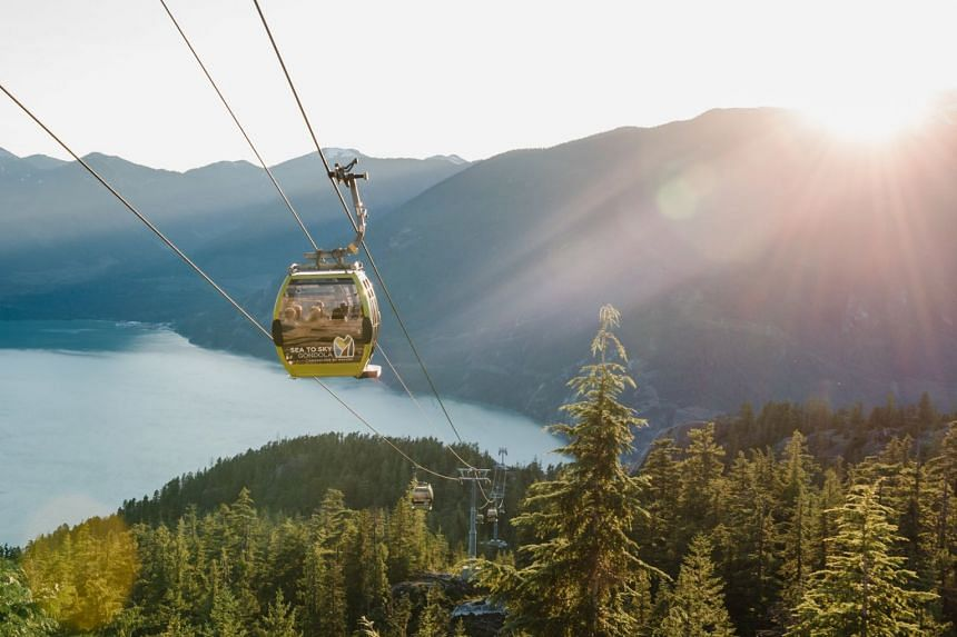 The Squamish Sea-to-Sky Gondola is a major tourist attraction which offers views of fjords on Canada's Pacific Coast.