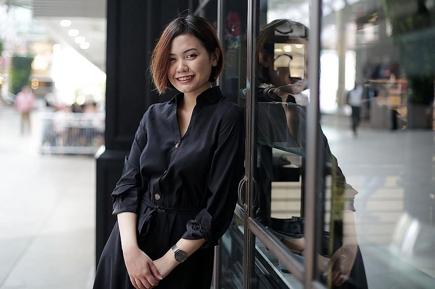 Third-year law student Diyana Atan worked as an optometrist before entering the Singapore University of Social Sciences law school. ST PHOTO: GIN TAY