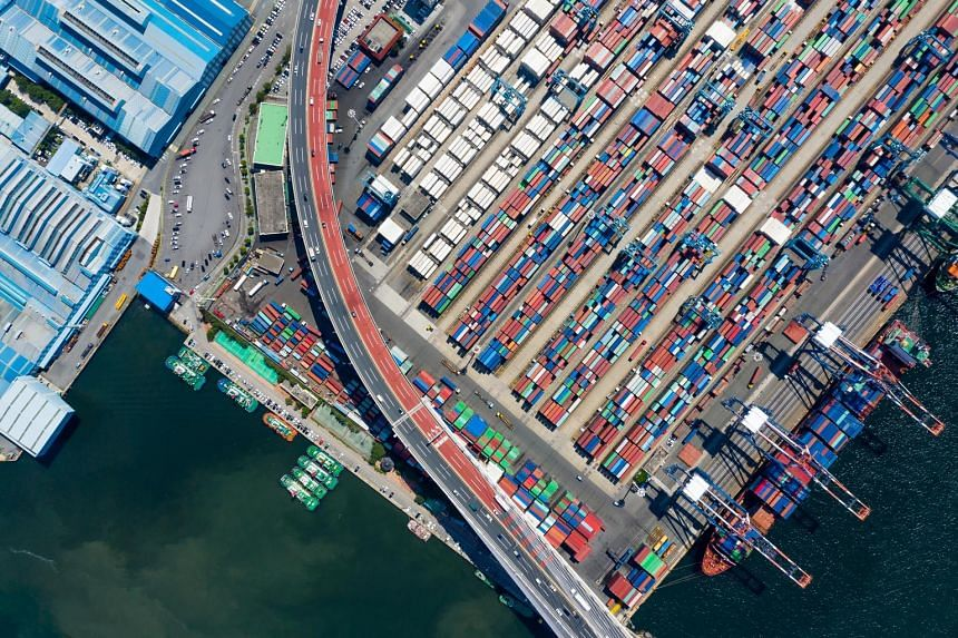 The Dongbu Pusan Container Terminal in Busan, South Korea. While it is caught in the crossfire of the trade war between the US and China, Japan has to grapple with a trade dispute of its own with the Koreans that's threatening to spiral out of control and