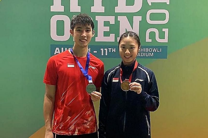 Yeo Jia Min, who won the Hyderabad Open women's singles title yesterday, hopes to upset the seeded players at the World Championships. For Loh Kean Yew, second in the men's singles, his results this year have been his career's best.