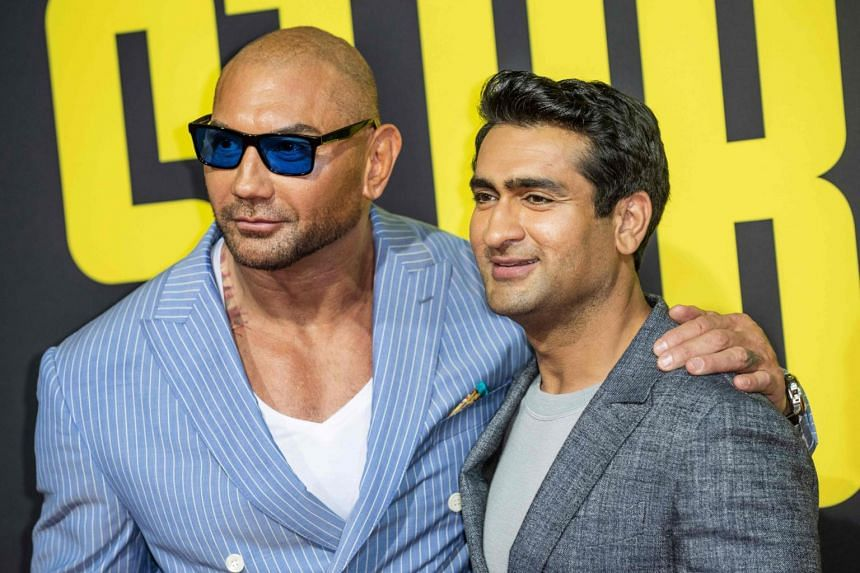 Stuber stars Dave Bautista as a pugilistic Los Angeles Police Department detective and Kumail Nanjiani as a mild-mannered Uber driver.
