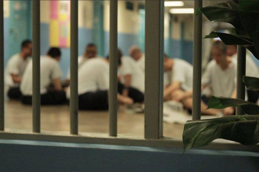 Inmates in Changi Prison.