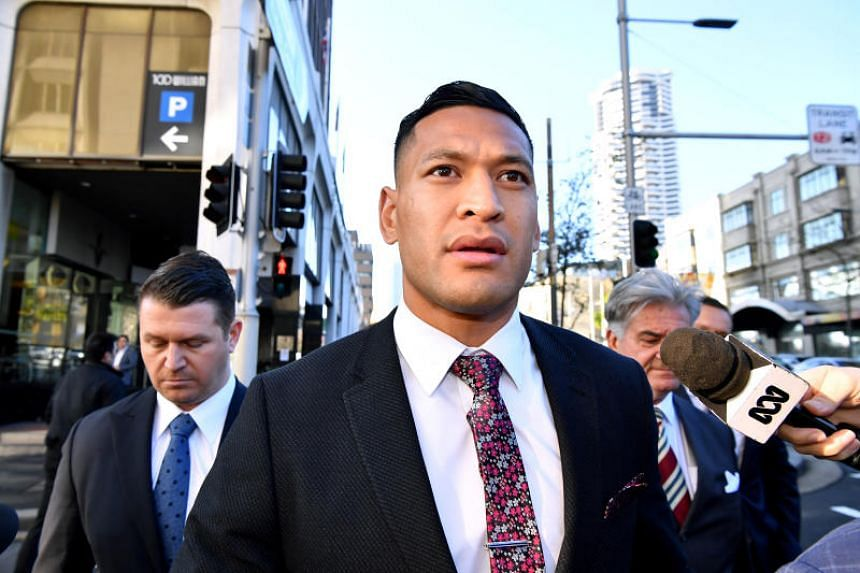 In a photo taken on June 28, Israel Folau arrives for a conciliation hearing at the Fair Work Commission in Sydney.