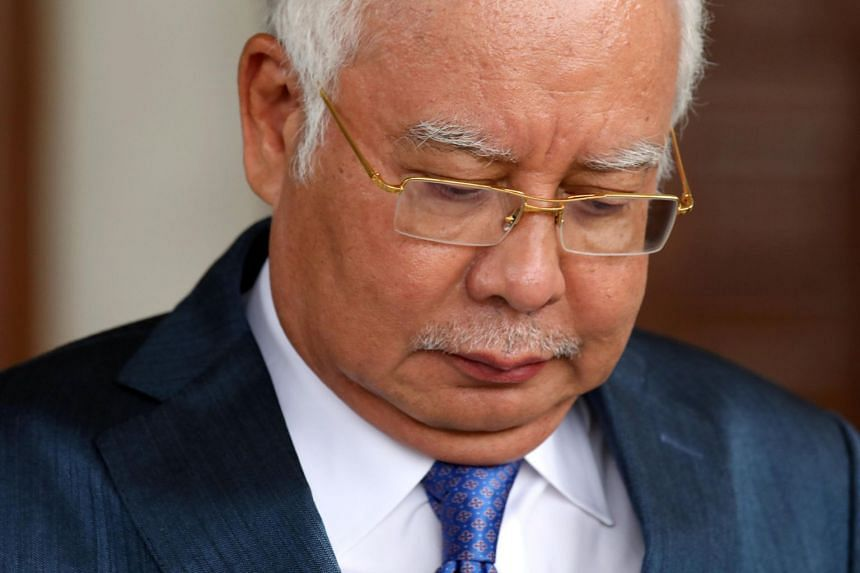 Malaysia's former prime minister Najib Razak leaving the Kuala Lumpur High Court on July 15, 2019.  The country's highest court ruled on Aug 13 that he will face trial as scheduled next week.
