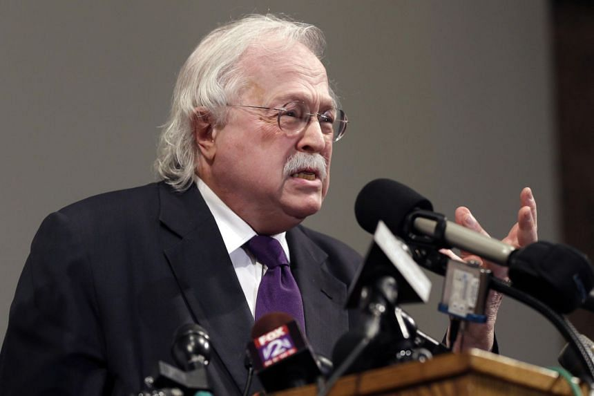 In a photo taken on Aug 18, 2014, pathologist Dr. Michael Baden speaks during a news conference to share preliminary results of a second autopsy done on Michael Brown.