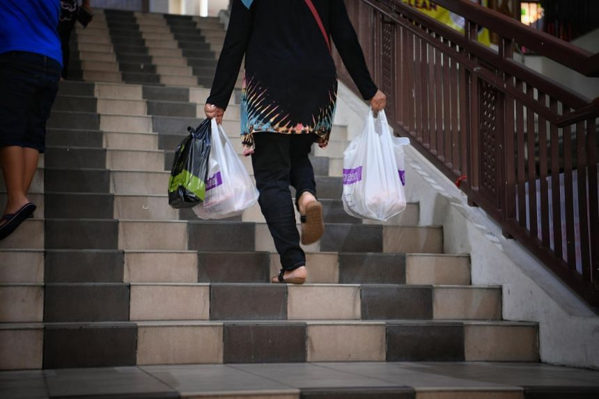 People sometimes take more plastic bags than they need.