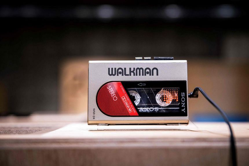 A WM-24 Sony Walkman audio player is among the devices displayed at an exhibition marking the 40th anniversary of the iconic device in Tokyo.