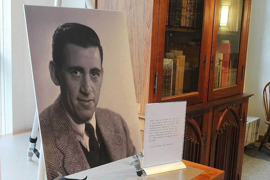 Four titles by novelist J.D. Salinger (left in photograph) - The Catcher In The Rye (1951), Nine Stories (1953), Franny And Zooey (1961) and Raise High The Roof Beam, Carpenters And Seymour: An Introduction (1963), will be available as e-books.