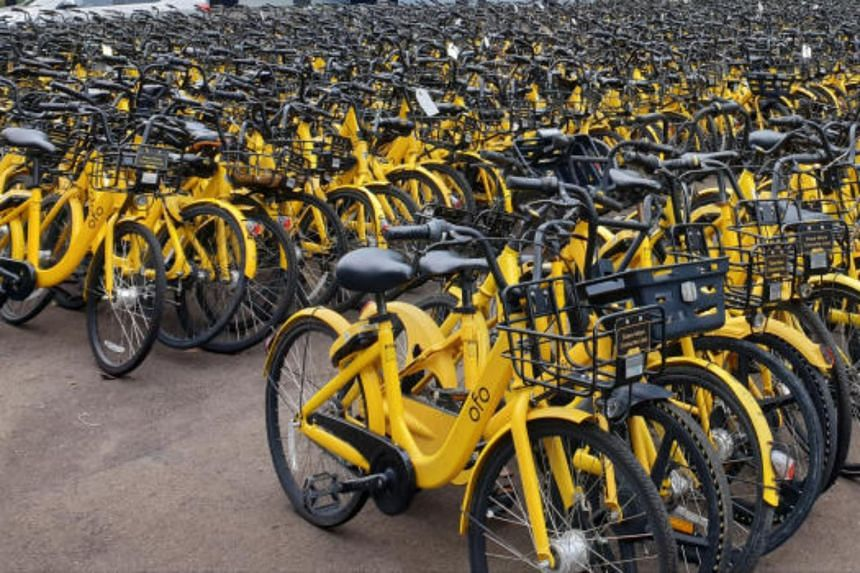 The majority of the bikes belonged to ofo, whose licence was cancelled in April 2019 after it missed deadlines to comply with regulations.