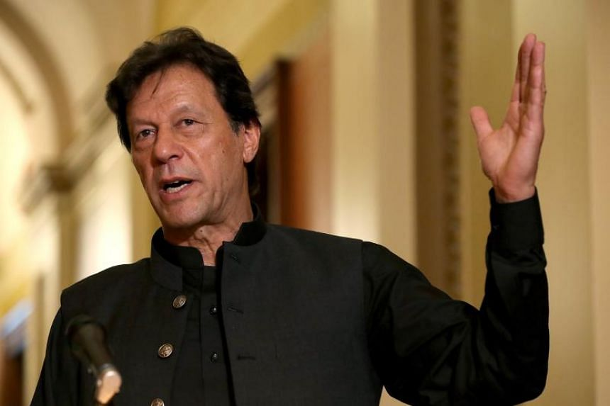 Pakistani Prime Minister Imran Khan travelled to Pakistani Kashmir on Aug 14, 2019, to mark the country's Independence Day.