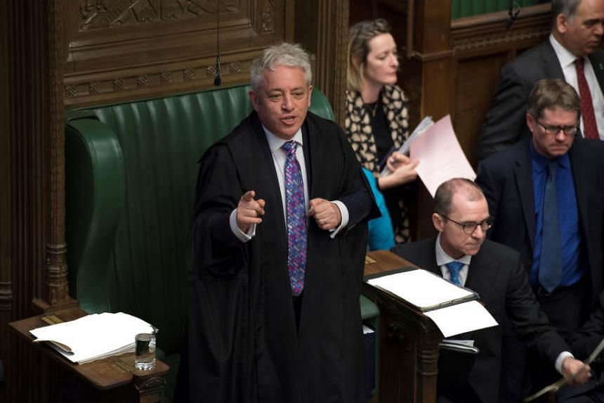 Speaker of the House of Commons John Bercow (above) reportedly plans to block Prime Minister Boris Johnson from bypassing parliament to take Britain out of the European Union.