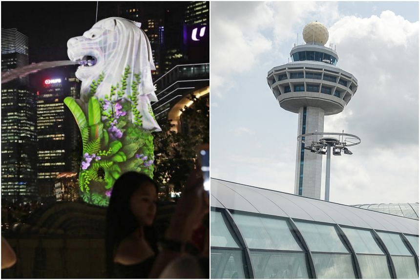 The Merlion and Changi Airport's Control Tower are among the trio of landmarks that have become iconic, international symbols associated with Singapore, said IPS senior research fellow Natalie Pang.