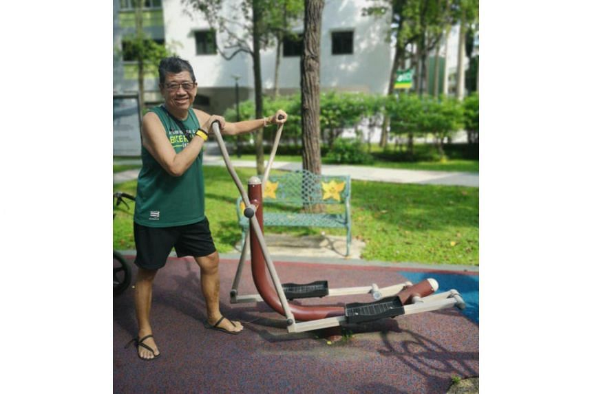 Patrick Heng's regimen includes clocking 10,000 steps daily and 60,000 on weekends, which also serves as training for his second The Straits Times Run on Sept 29, 2019.