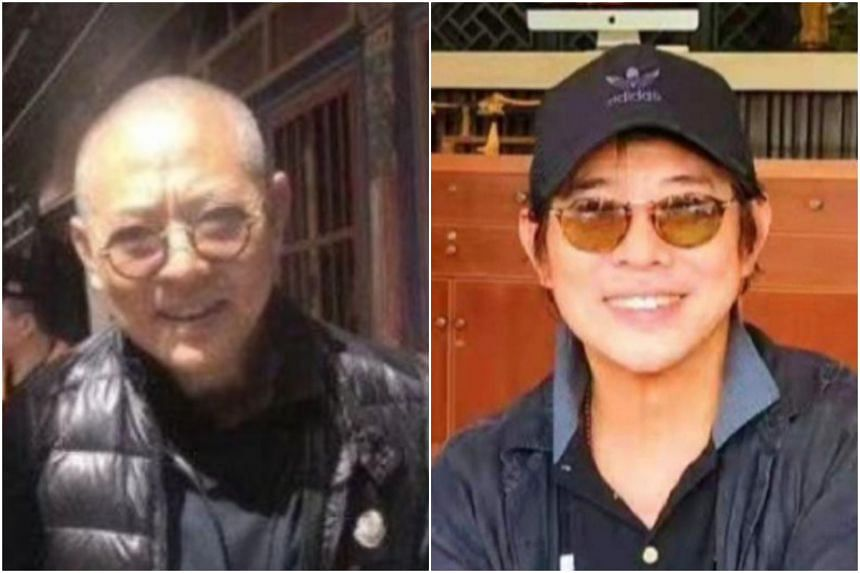 Netizens were shocked in 2018 when a photo of a frail-looking Jet Li surfaced (left). A recent photo showed the actor in a good mood as he smiled broadly for the camera.