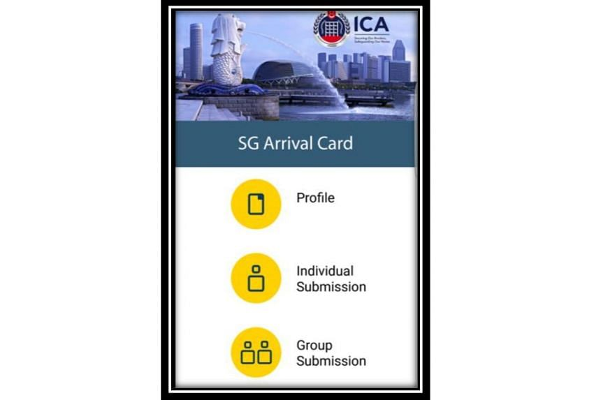 Selected travellers can submit electronic arrival cards up to 14 days before they arrive in Singapore. They will then have to produce only their passports for immigration clearance.