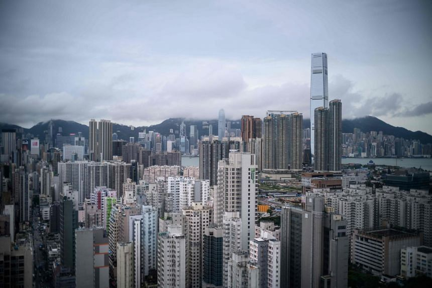 Residential and commercial buildings among the skyline of Hong Kong, on Aug 3, 2019.