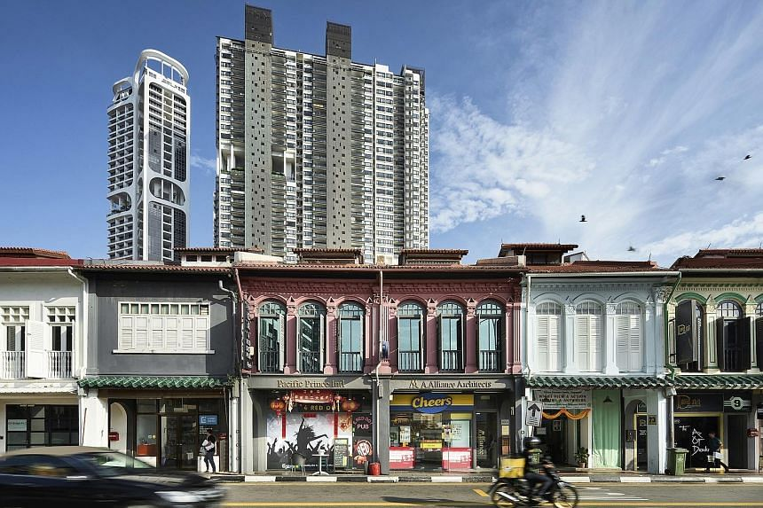 The Kampong Bahru conservation shophouses can be sold individually or collectively. They sit on land zoned for commercial use, and so are open to foreign buyers and have no additional buyer's or seller's stamp duty imposed.