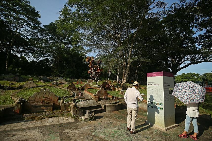 Bukit Brown Cemetery (left) loomed larger in the minds of the youngest group of respondents, aged 18 to 28, while older colonial buildings such as the former Supreme Court (right) was perceived by oldest cohort, aged 49 to 70, as important. Changi Ai