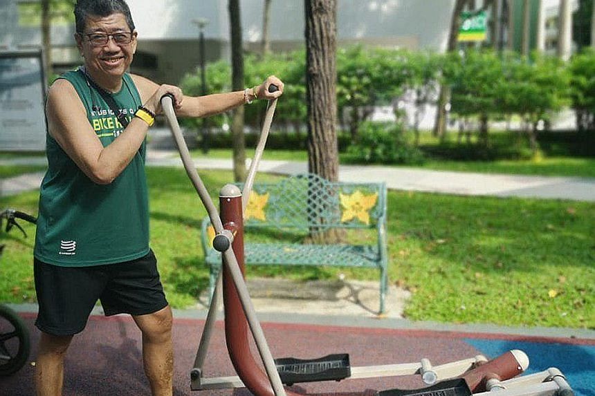 Patrick Heng, 55, will be taking part in the 3.5km Fun Run next month after learning to walk again following a stroke two years ago. PHOTO COURTESY OF PATRICK HENG