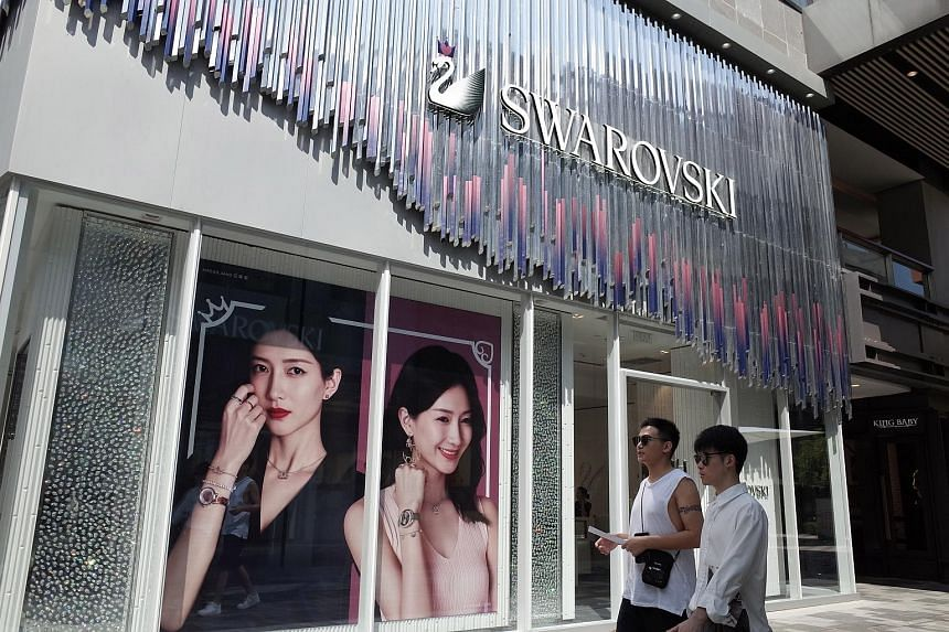 """A Swarovski store in Beijing. The company apologised on Tuesday for """"hurting the feelings"""" of the Chinese after calling Hong Kong a separate country on its website."""