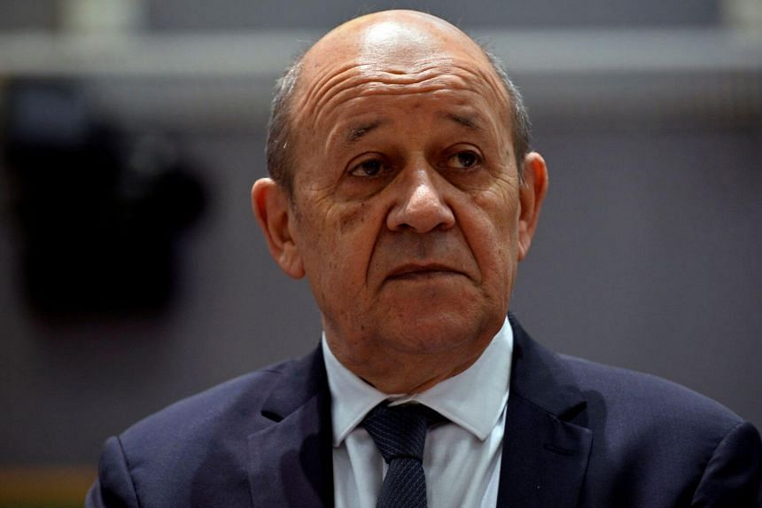 In a photo taken on July 15, 2019, French Foreign Minister Jean-Yves Le Drian attends a EU foreign ministers meeting in Brussels, Belgium.