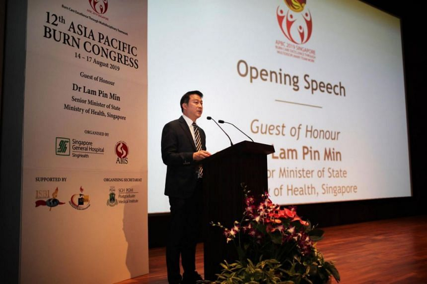 Senior Minister of State for Health Lam Pin Min at the 12th Asia Pacific Burn Congress at Academia in the SGH Campus on Aug 15.