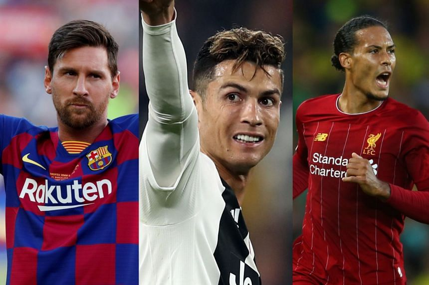 Image result for Messi, Ronaldo Van Dijk