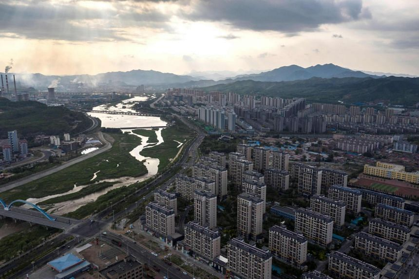 Public housing estates in Chengde, China's northern Hebei province.