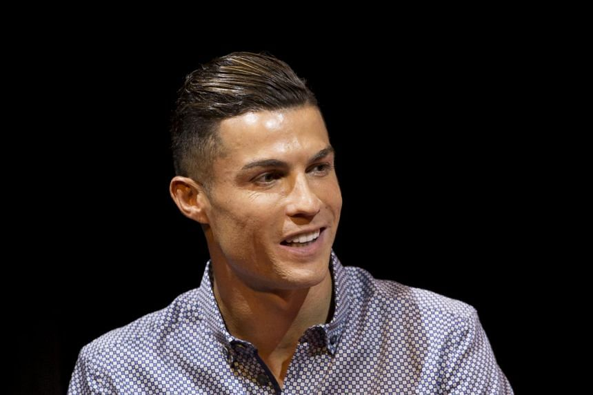 In a picture from July 29, 2019, Juventus footballer Cristiano Ronaldo speaks in Madrid, Spain.