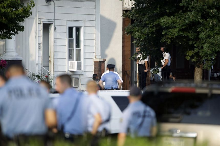 Police respond to an active shooting situation in the Nicetown neighbourhood of Philadelphia.