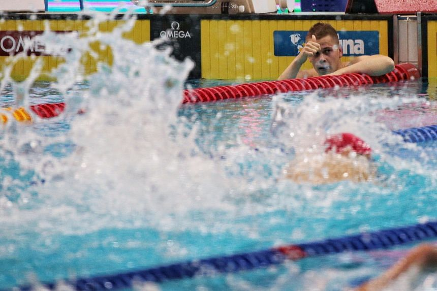 Danas Rapsys won the 400m freestyle title at the Fina Swimming World Cup Singapore, after also clinching the title in World Cup record times at the first two stops in Tokyo and Jinan.