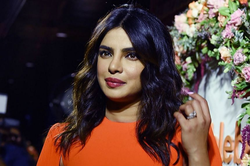 "At Beautycon, a cosmetics industry event, actress Priyanka Chopra (above) was accused by Pakistani- American Ayesha Malik of being a ""hypocrite"" for tweeting support for the Indian army."