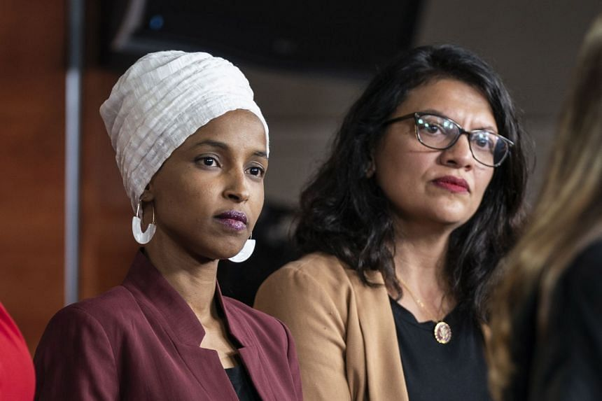Democratic Representatives Ilhan Omar (left) and Rashida Tlaib are barred from entering Israel.