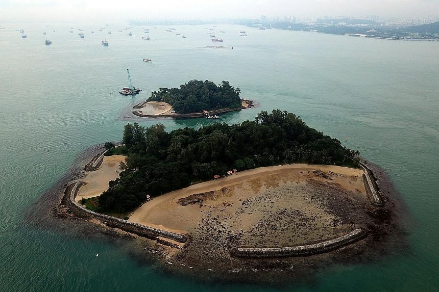 """Left: American oceanographer Sylvia Earle started the """"Hope Spot"""" initiative in 2009 to draw public attention to marine areas that may need more protection. Far left: If Singapore's bid is successful, Sisters' Islands Marine Park might join the ranks"""