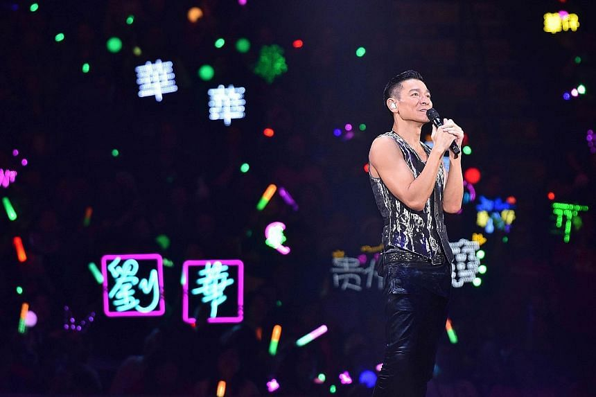My love Andy Lau world tour - Singapore.