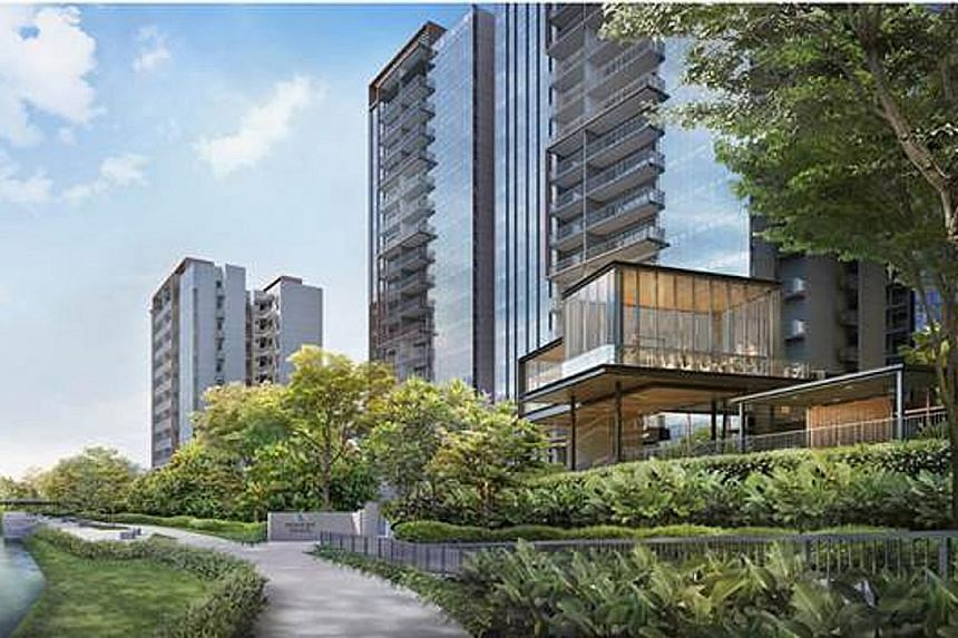 The 820-unit Piermont Grand EC was last month's best-selling project, with 378 units booked at a median price of $1,107 psf. PHOTO: CITY DEVELOPMENTS