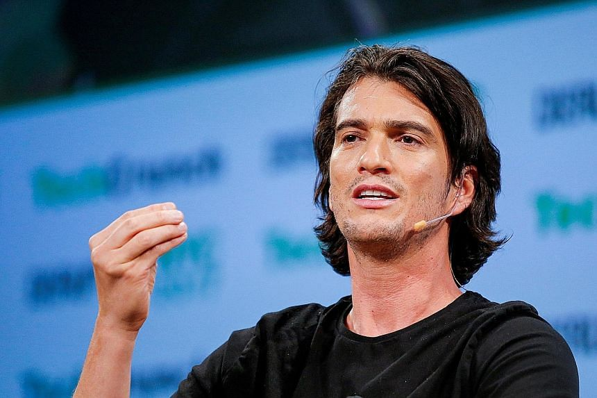 The listing plans of loss-making real estate firm WeWork (left) show that chief executive Adam Neumann (above) has been awarded privileges beyond what most stock market investors are used to, corporate governance experts say. PHOTOS: AGENCE FRANCE-PR
