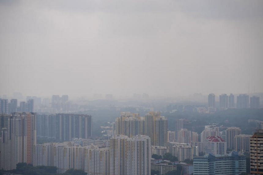 Hazy conditions in western Singapore on Aug 6, 2019.