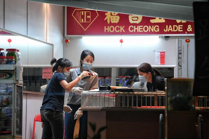 Hock Cheong Jade and Jewellery shop at Block 574, Ang Mo Kio Avenue 10 was robbed of about $100,000 worth of items on Aug 14, 2019.
