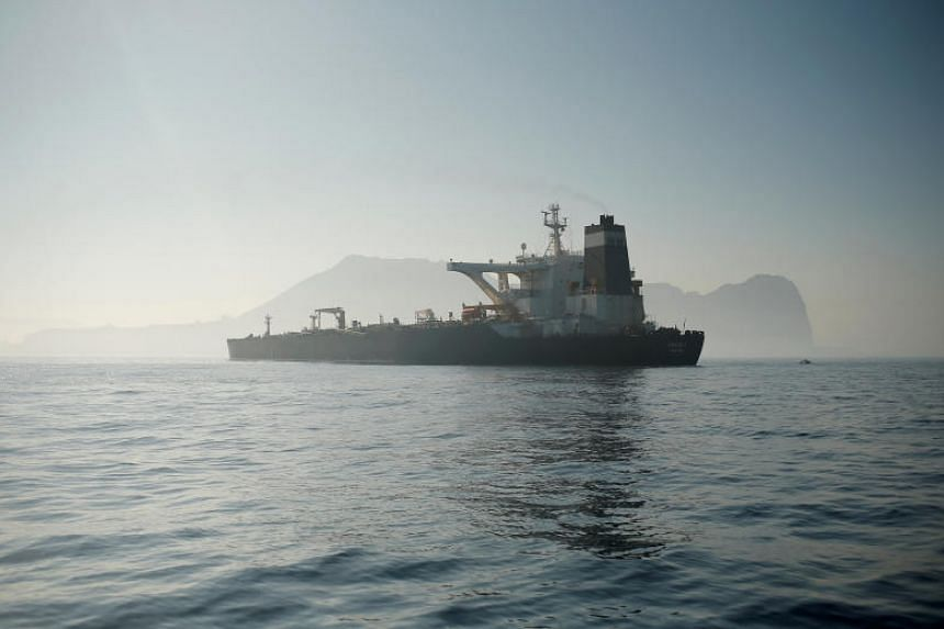 Iranian oil tanker Grace 1 sits anchored awaiting a court ruling on whether it can be freed after it was seized in July by British Royal Marines.