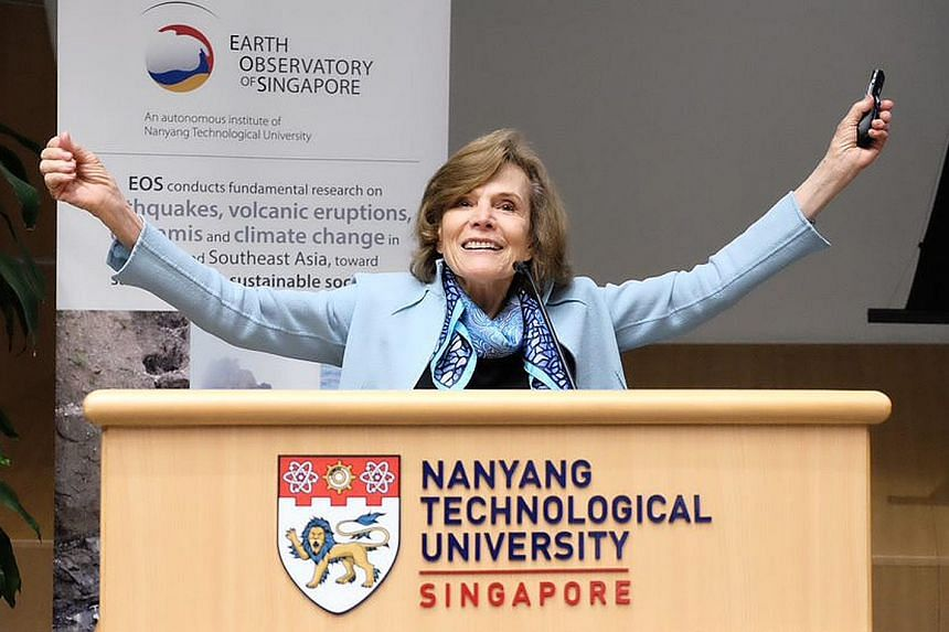 Dr Sylvia Earle, the US National Oceanic and Atmospheric Administration's first woman chief scientist, delivered the keynote address at the Melting Ice and Plastic Seas symposium yesterday.