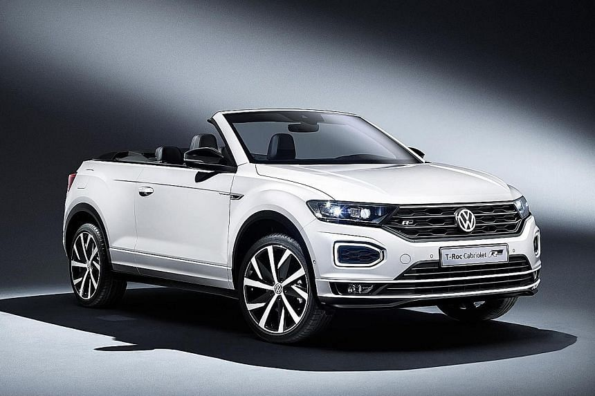 Topless T-Roc to debut at Frankfurt Motor Show.
