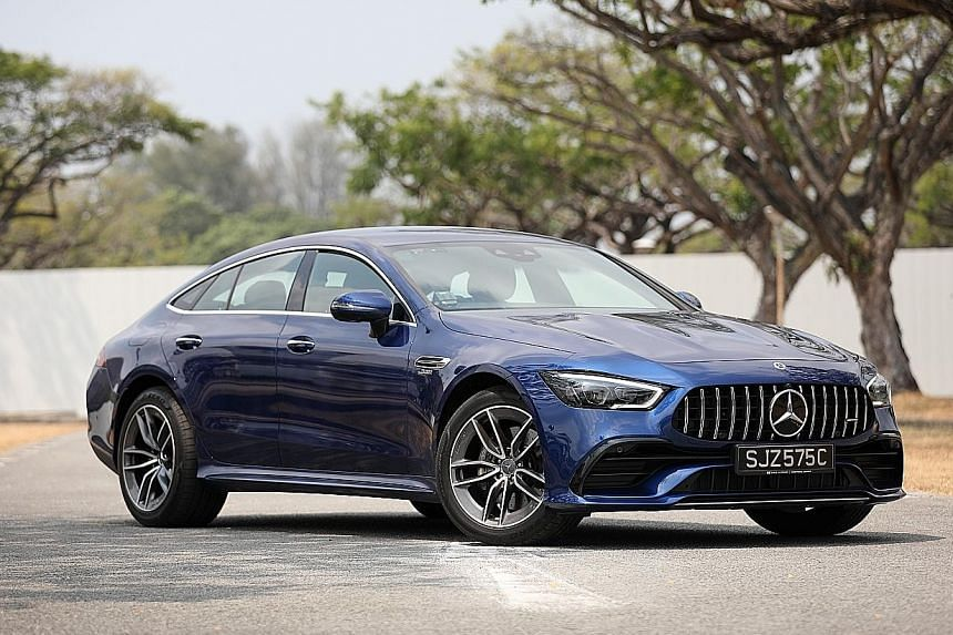 The Mercedes-AMG GT53 4-Door hits 100kmh in 4.5 seconds and a top speed of 285kmh.