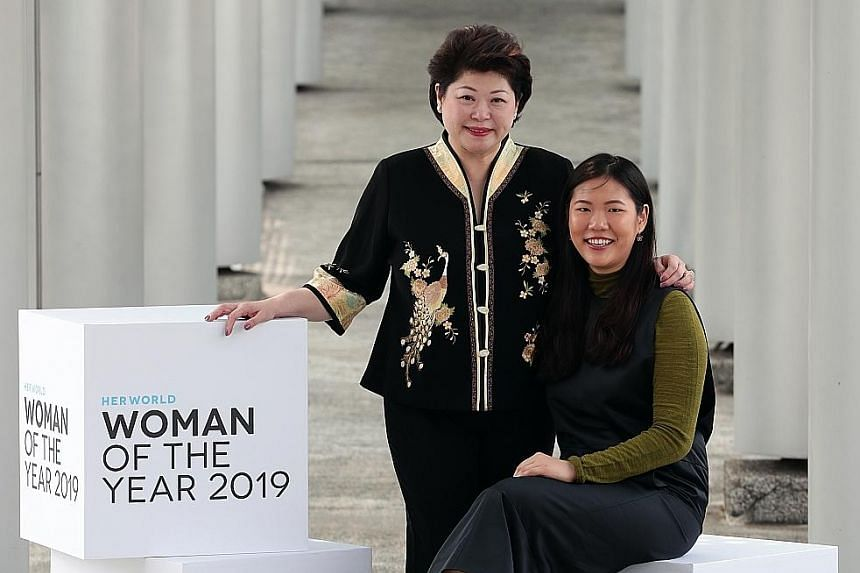 Her World Woman of the Year Susan Chong is founder and chief executive of packaging firm Greenpac, while Young Woman Achiever Annabelle Kwok is founder and CEO of artificial intelligence start-up NeuralBay.
