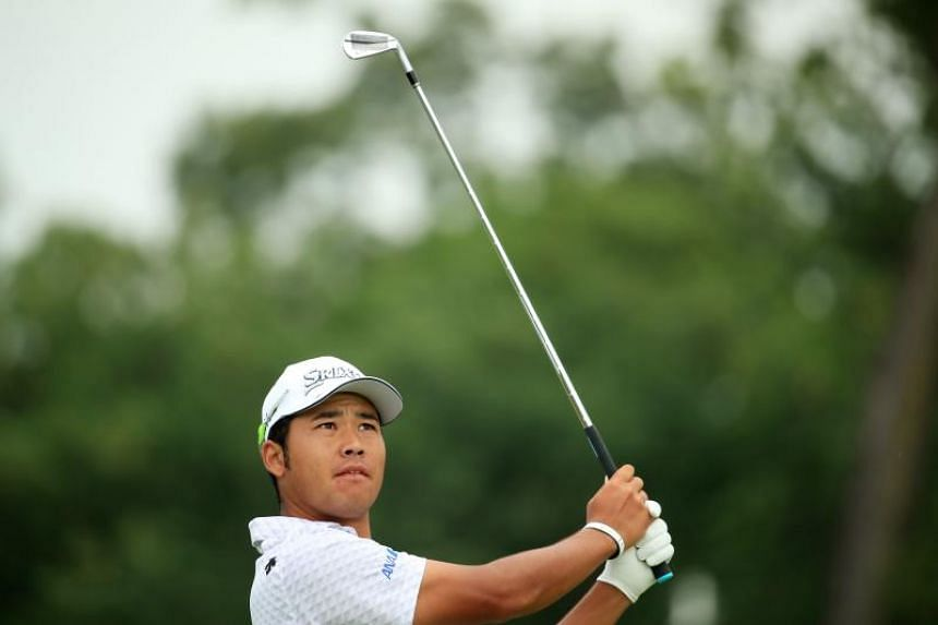 Hideki Matsuyama of Japan plays his shot from the second tee during the second round of the BMW Championship at Medinah Country Club No 3 on Aug 16, 2019 in Medinah, Illinois.