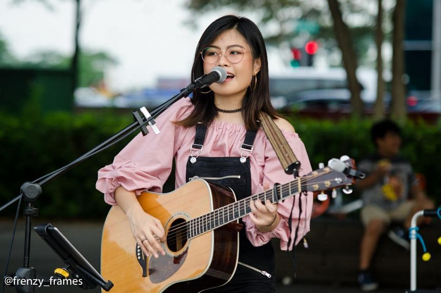 Ms  Marian Carmel Saturno, who has been busking for five years, is among the growing number of young performers who are changing the face of the local busking scene.