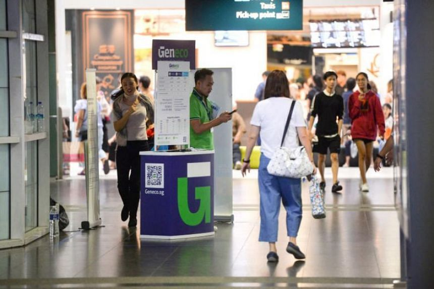 A Geneco roadshow at Sengkang MRT station on Aug 16, 2019. Geneco said it will update its sign-up process to require only partial NRIC numbers and a copy of the electricity bill for verification from Sept 1, 2019.