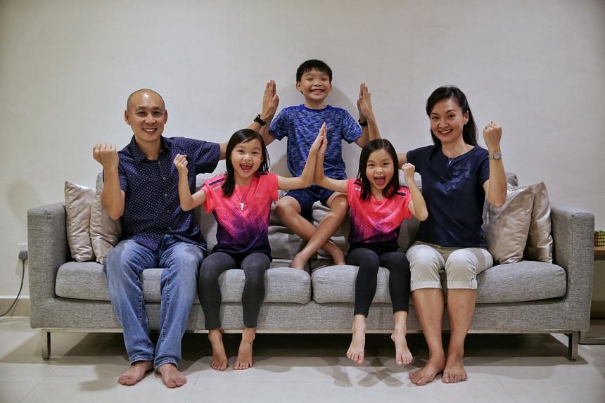 Singapore Polytechnic lecturer Lim Li (right) and her family, husband Norman New and children Nathan, Shania and Shavon have embarked on a week-long challenge to see how much more they can do to reduce, reuse and recycle.