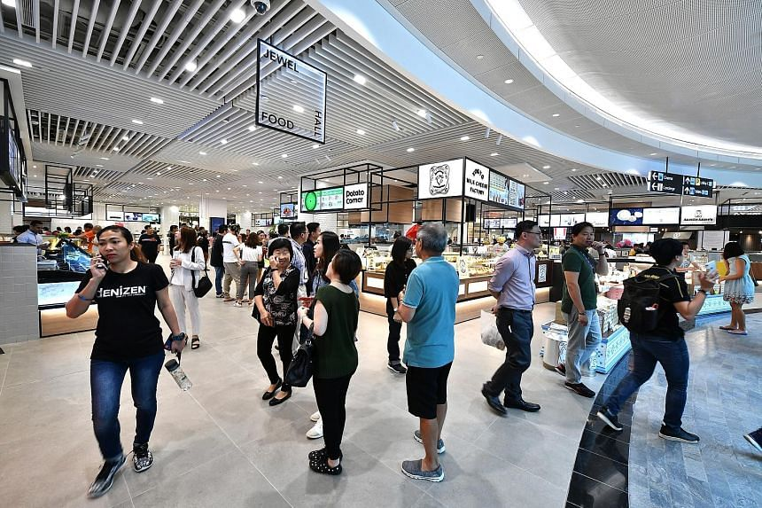 The food hall in the basement of Jewel Changi Airport offers a vast array of goodies you can have there or take away.